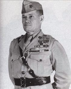"""Lieutenant General Lewis Burwell """"Chesty"""" Puller (1898 – 1971) was a retired general officer of the USMC. Lt. Gen. Puller is one of the most, if not the most, decorated combat Marine in Marine Corps history. He is the only Marine to be awarded five Navy Crosses.During his career, he fought guerrillas in Haiti and Nicaragua, and participated in some of the bloodiest battles of WW II and the Korean War. Puller retired from the Marine Corps in 1955, spending the rest of his life in Virginia."""
