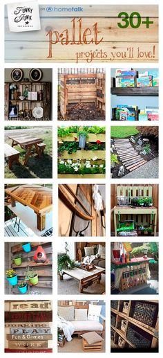 30+ pallet projects you'll love! Curated by www.funkyjunkinte... from Hometalk                                                                                     Donna - Funky Junk Interiors                                              • 21 weeks ago                                                                                                   30+ pallet projects you'll love! Curated by www.funkyjunkinte... from Hometalk