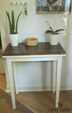 The Comfy Crafter: DIY Shabby Chic Cottage Table Makeover