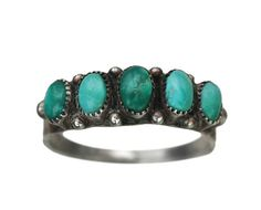 Erie Basin 1940s Navajo Turquoise Ring