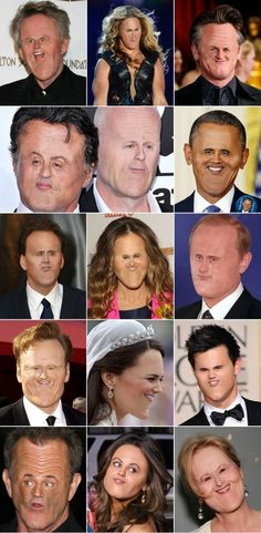 Celebrities with tiny faces.