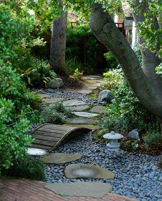 garden zen garden landscape Landscape Architecture zen lantern nature natural outdoors path stone trees rocks bridge asian