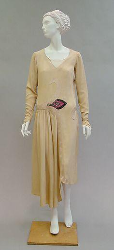 Paul Poiret  (French, Paris 1879–1944 Paris)    Date:      ca. 1929  Culture:      French  Medium:      silk, glass