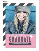 Congrats Graduate Pink Vinage Photo Card