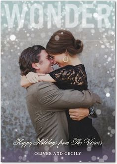 Christmas photo cards are a great way for newly engaged or just married couples to share their wonderful wedding and engagement photos.