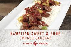 15 Minute Sensations: Hillshire Farm Hawaiian Sweet & Sour Smoked Sausage #SoSimple