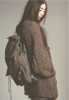 knit backpack