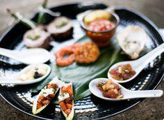 An asian inspired appetizer plate!