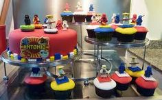 cake/cupcakes                Lego Cakes  Lego is shiny, perfectly formed and a very familiar shape to most people, so it is hard to make a cake that looks good. If you are after lego bricks there are a couple of good ones in the mix below – neither of them used the lego brick cake pan – so save your money. If you're looking for some other ideas for lego cakes then browse through the links below.                          Lego Party Food Ideas  I struggled to find many good food offerings in the lego theme here are some of the best.