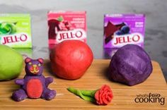 Jell-O Play Dough Recipe - Fun weekend activity for the kids (and family).  Works with every flavour of Jell-O jelly powder.