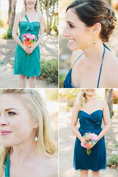 These are beautiful bridesmaids dresses! And they have such cute earrings!