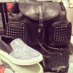 Our Star Studded Leather Backpack and comfortable King Sneakers are  perfect for anyone who's always on the go.