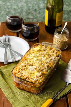 Macaroni Lasagna with White Bean Cheese Sauce!