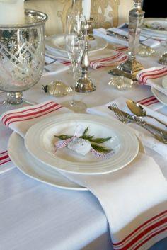 A Christmas Table setting
