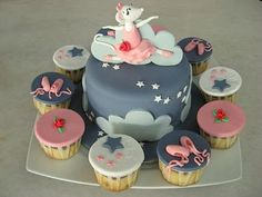 Angelina Ballerina Cake and Cupcakes