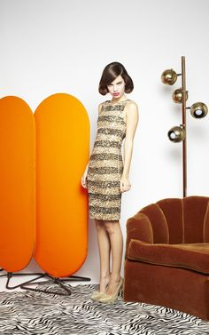 CLAUDINE SEQUIN FITTED DRESS | Alice + Olivia |