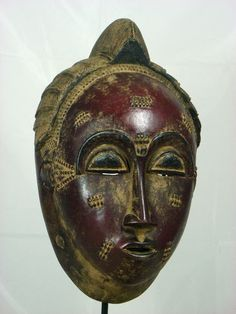 Superb African Tribal Mask BAULE Mask Collectible African Art