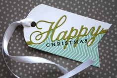 Happy Christmas Gift Tag by Laura Bassen for Papertrey Ink (November 2013)