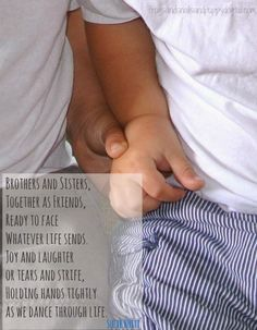 sibling quote- holding hands... by Suzie Huitt from FSPDT