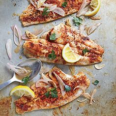 Clam Shack-Style Broiled Fish | Cooking Light #myplate, #protein, #veggies