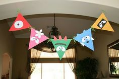 party banners, birthday banners, birthday parties, monsters inc, yo gabba gabba