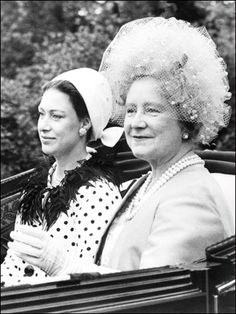 Princess Margaret and the Queen Mum at Royal Ascot
