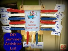 things to do summer activities Kids summer crafts