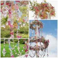 the most awesome butterfly chandelier.  ever. must copy