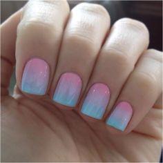 ♡ Pastel Gradient Nail ♡