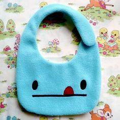 Baby Toddler Bib - Cheeky Monster Baby Bib (Turquoise). $19.00, via Etsy.