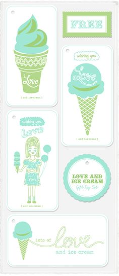 free printable vintage ice cream