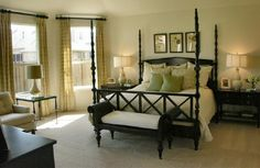 Master Bedroom Decorating Ideas green | Simple Master Bedroom | IBB Design Fine Furnishings: Designer ...