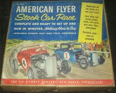 GILBERT: 1960s American Flyer Stock Car Race Track #Vintage #Toys