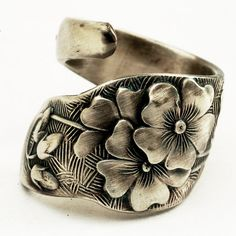antique sterling spoon ring.~KA