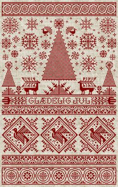 Scandinavian Christmas Sampler PDF Pattern by modernfolk on Etsy
