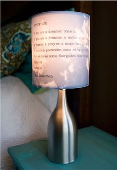 Do it yourself clever ideas on pinterest for Lamp light poem