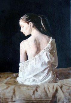 """Saatchi Online Artist: William Oxer; Acrylic, Painting """"The Girl with the Red Earring"""""""