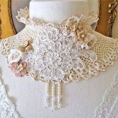 collares tejidos on Pinterest Tejidos, Crochet Collar ...