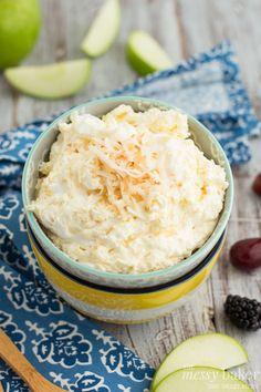 Pina Colada Fruit Dip - The Messy Baker Blog