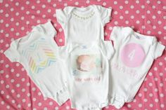 Iron on onesies #diy #baby #target