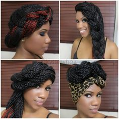 4 Simple, Gorgeous Styles for Box Braids | Black Girl with Long Hair