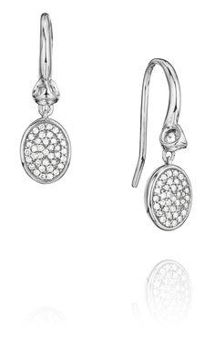 Lolita Earrings with Pave Diamonds