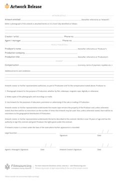 photo rights release form template .