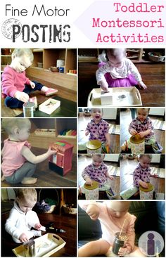 Fine motor posting toddler Montessori activities