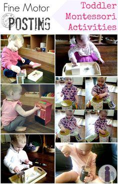 Fine motor posting toddler Montessori activities