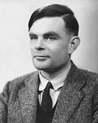 "Alan Mathison Turing, OBE, FRS 23 June 1912 – 7 June 1954), was an English mathematician, logician, cryptanalyst, and computer scientist. He was highly influential in the development of computer science, providing a formalisation of the concepts of ""algorithm"" and ""computation"" with the Turing machine, which played a significant role in the creation of the modern computer."