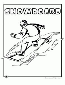 Winter Olympic Coloring PagesWinter Olympic Coloring Pages