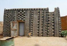 geometric house in Burkina Faso