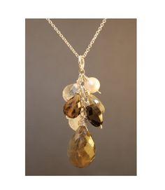 Necklace 13 Labradorite black onyx moonstone by CalicoJunoJewelry