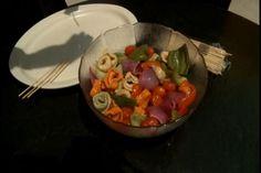 Salad on a skewer #summertime #picnic #summerrecipe